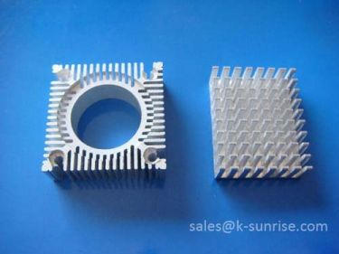Customized anodized aluminum heat sink